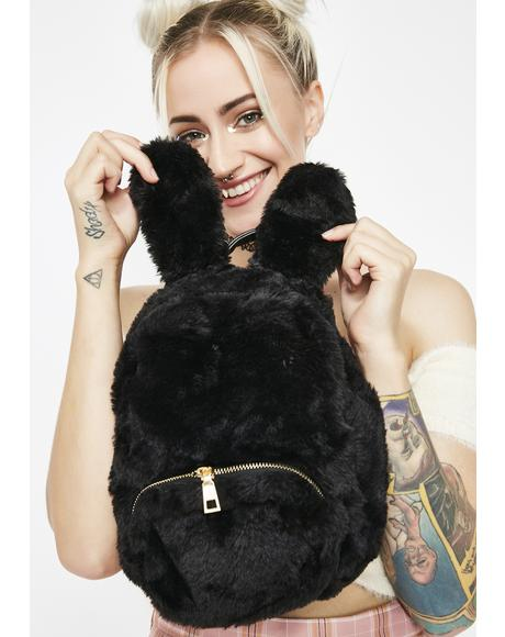 Bunny Hoppin Faux Fur Backpack