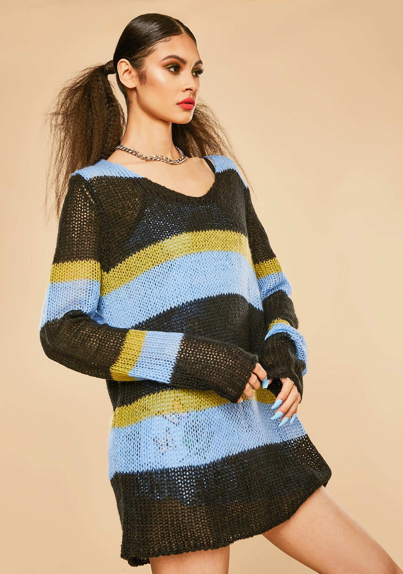 Current Mood Pretty As A Picture Striped Sweater