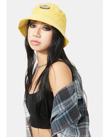 Yellow Corduroy Bucket Hat