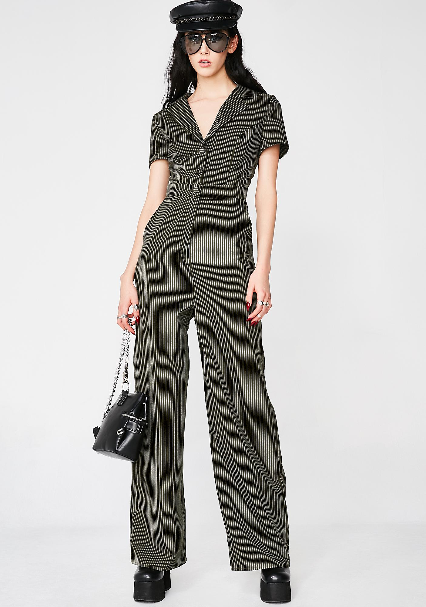 5fbc104b0b6 Boss Lady Pinstripe Jumpsuit