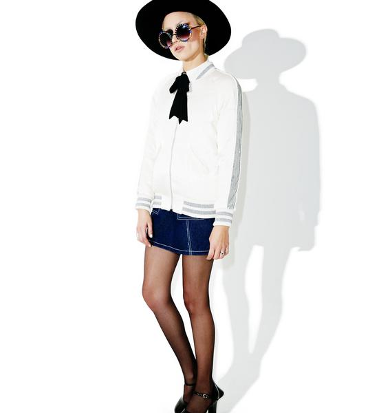 Glamorous Glacial Varsity Jacket