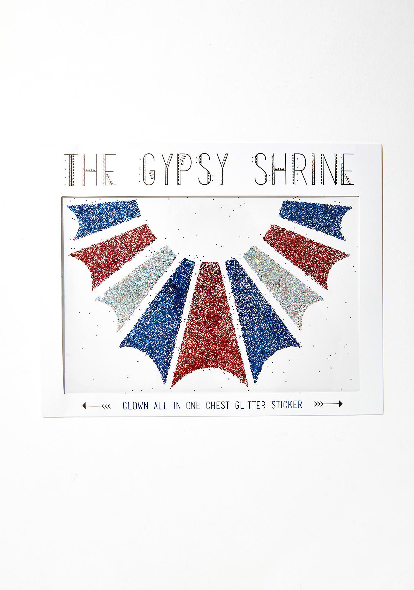 The Gypsy Shrine Clown Body Glitter Stickers