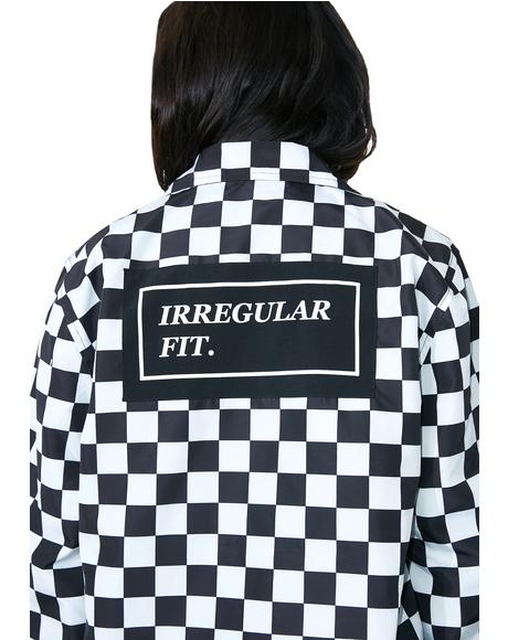 Irregular Fit Coach Jacket