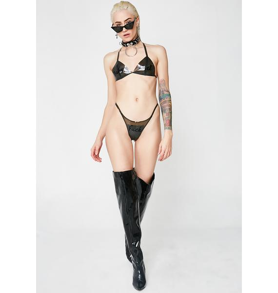 Meat Clothing Daddy Loves Me Bikini Top