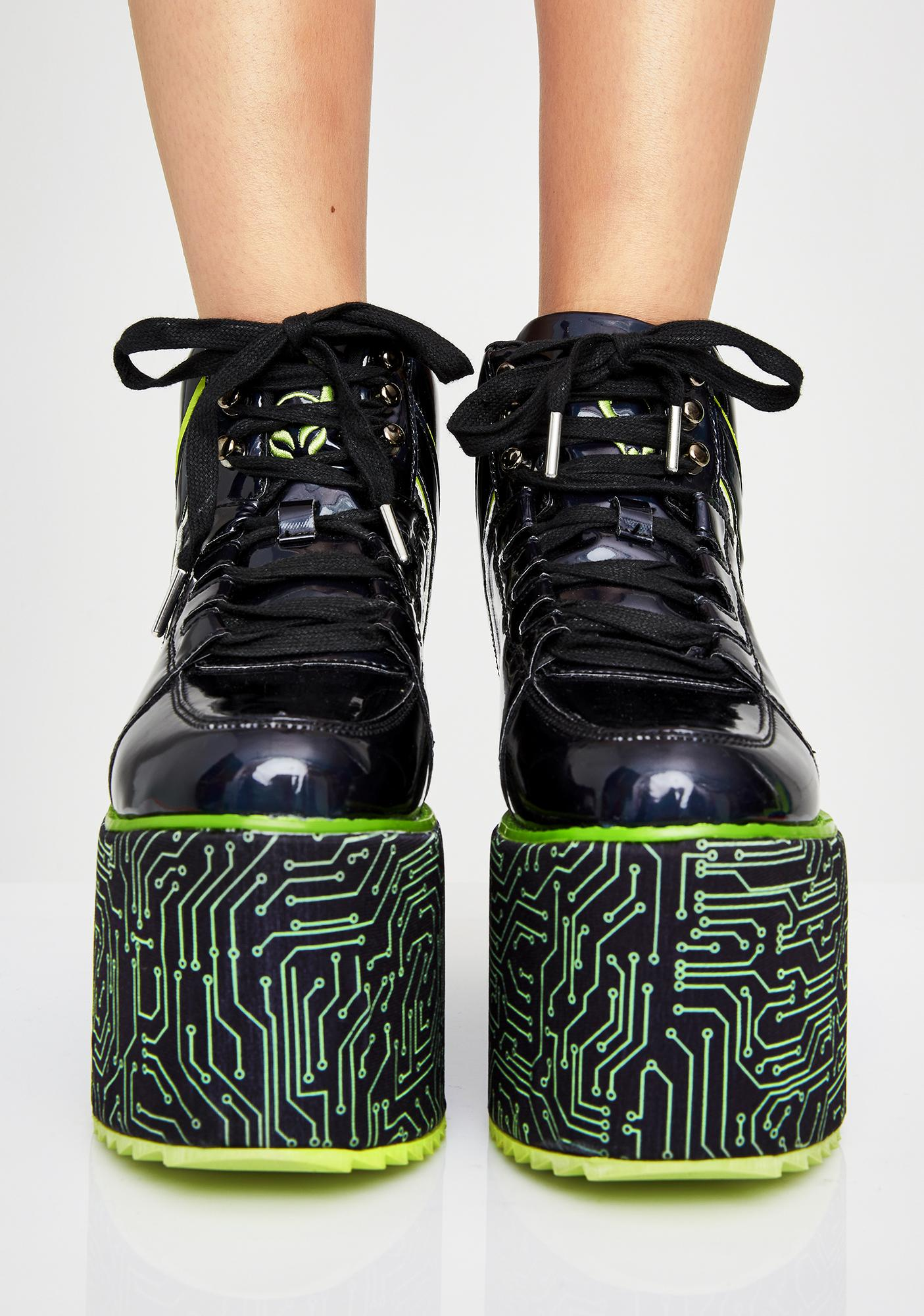 Y.R.U. x Cyberdog Qozmo Platform Sneakers