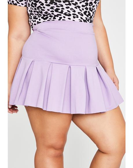 Lavender Miss Wicked Scholar Pleated Skirt