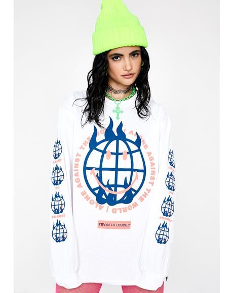 X Smiley Against The World Graphic Tee