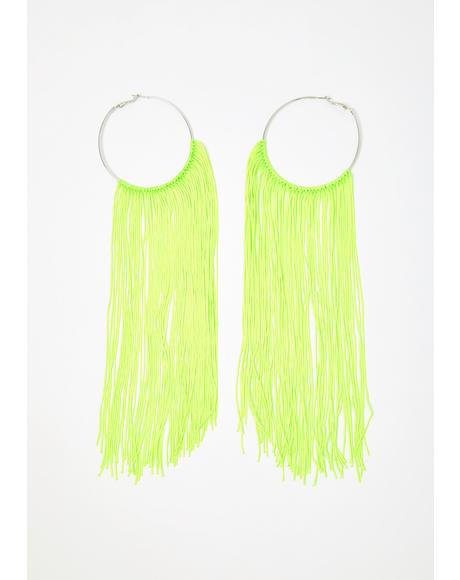 Atomic Aura Tassel Earrings