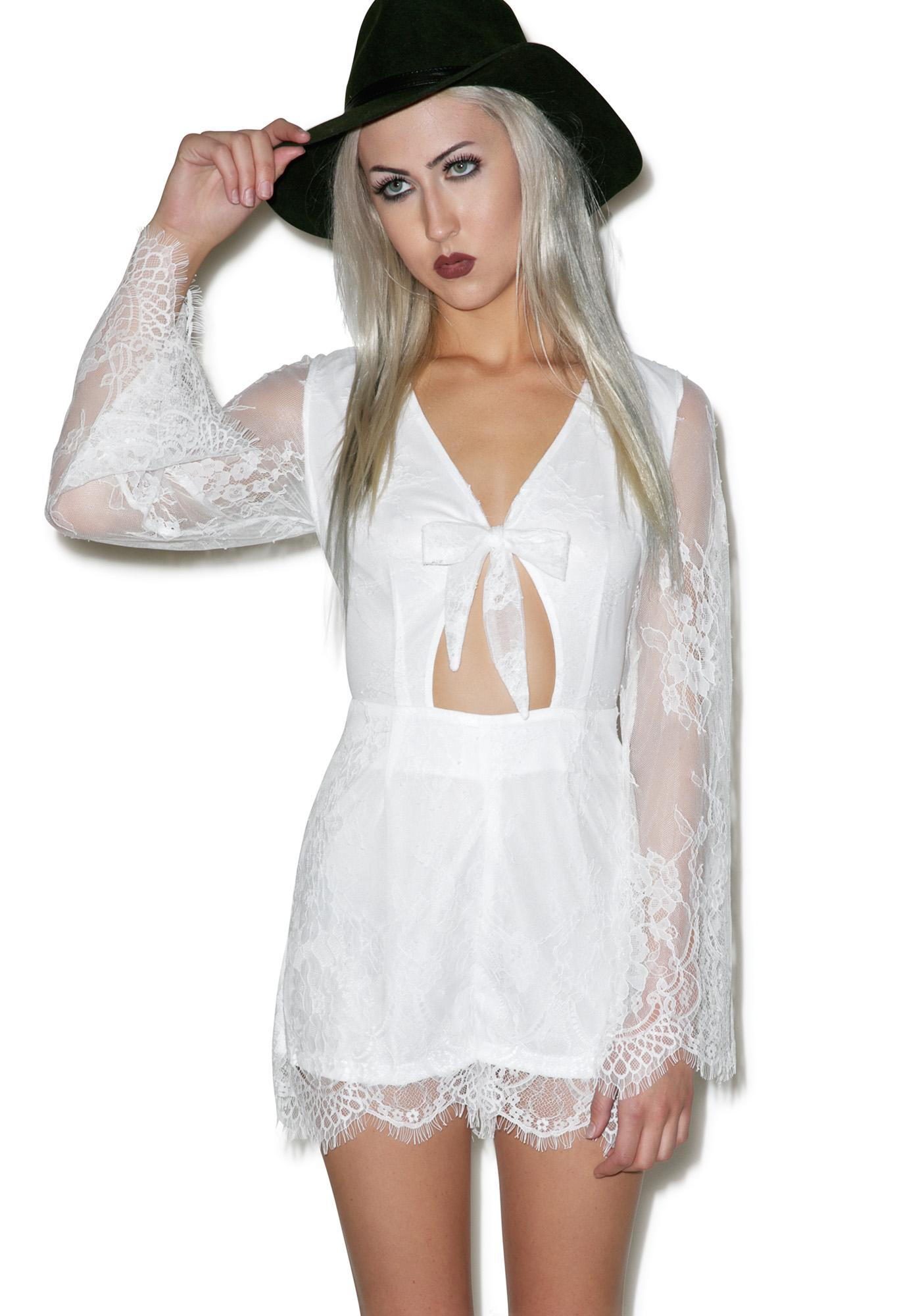 Glamorous Loving You Lace Romper