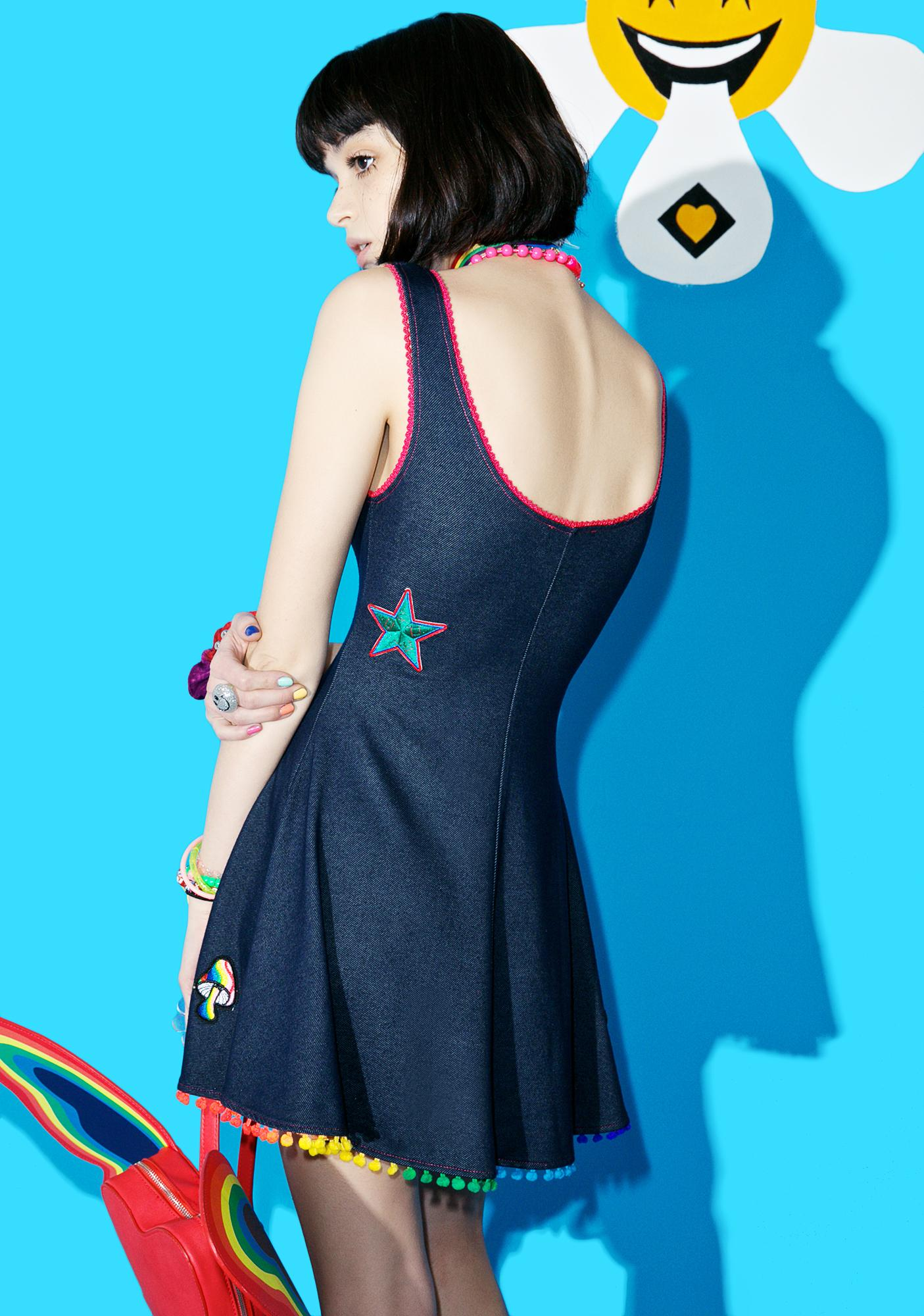 Current Mood Magic Trip Patched Skater Dress