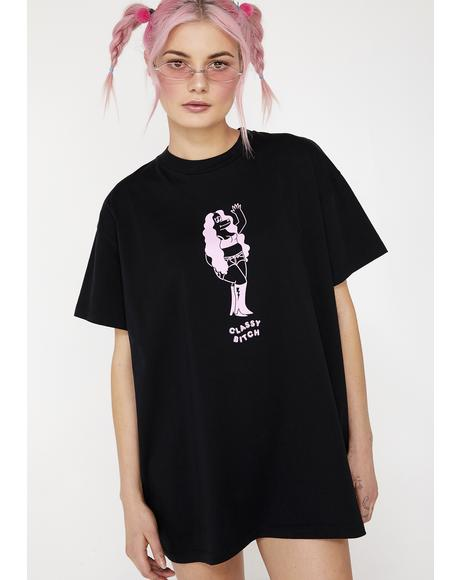 Classy Bitch Oversized T- Shirt