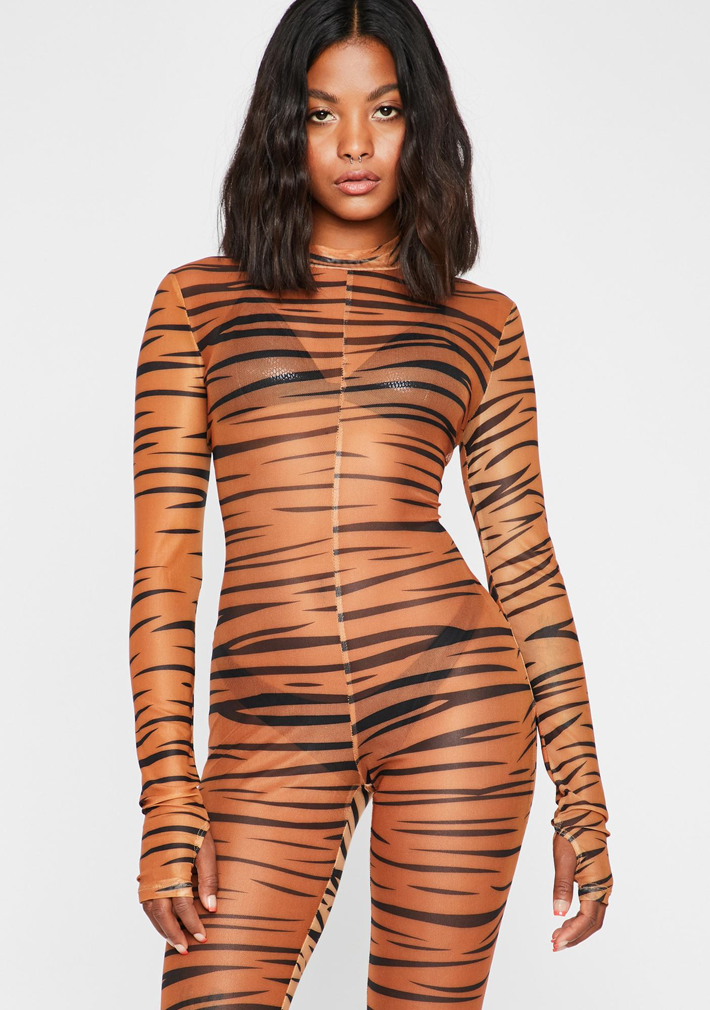 Play No Games Tiger Jumpsuit