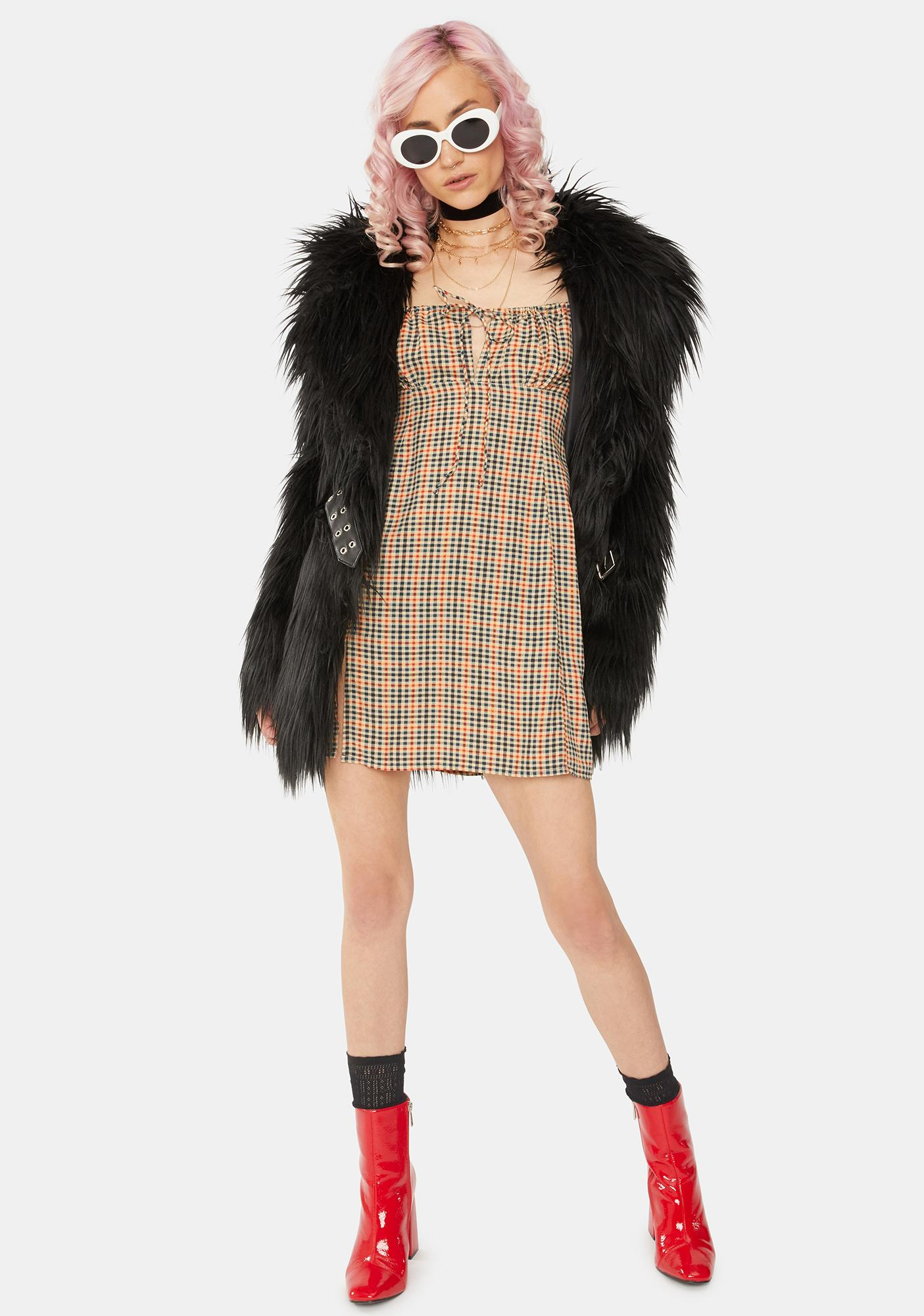 Motel Country Check Famala Mini Dress