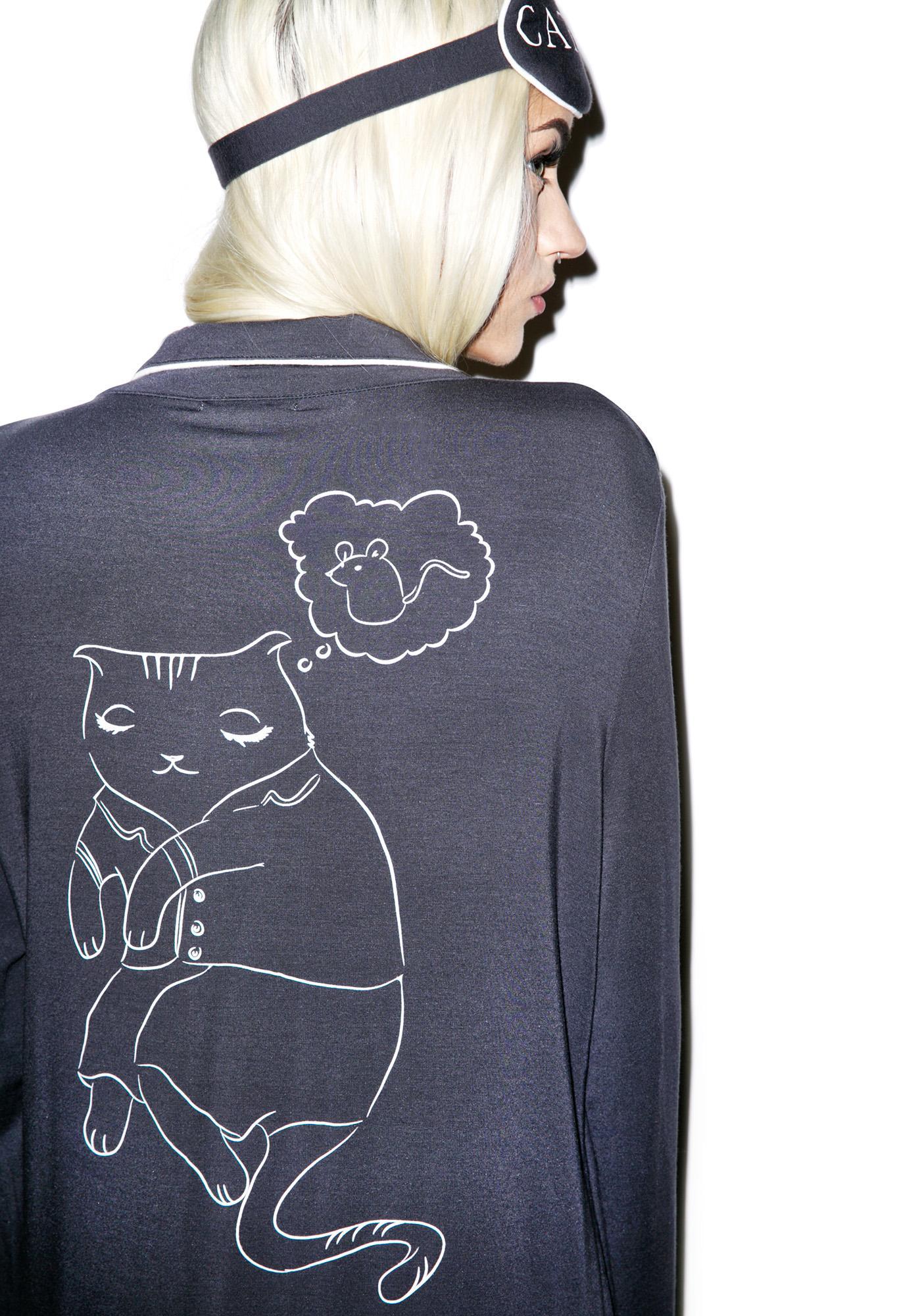 Wildfox Couture Cat Nap Sleep Shirt