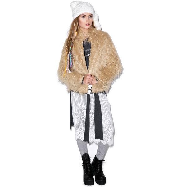 Lip Service Night Song Faux Fur Jacket