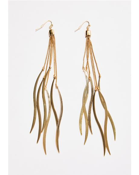 Rollin' In Gold Fringe Earrings