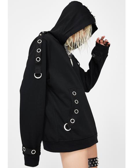 Pullover Grommet Hoodie