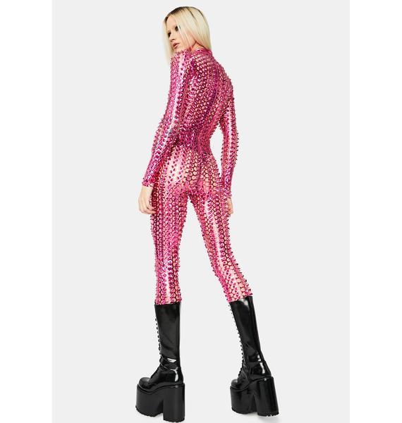 Diva Laser Focus Textured Jumpsuit