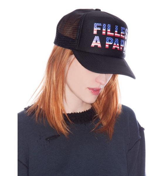 Filles A Papa Jill Screenprinted Cap