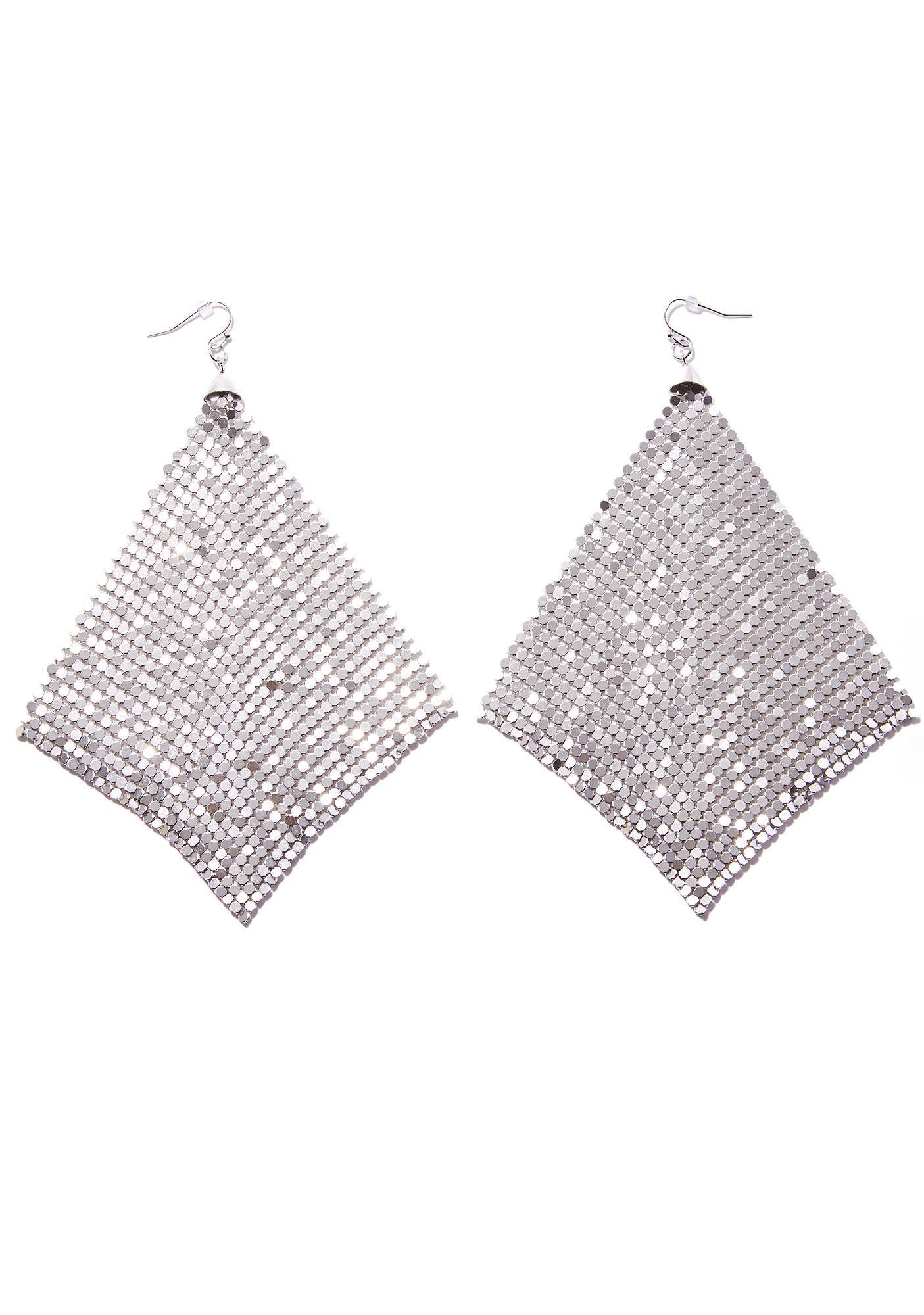 Silver Fluttering Earrings