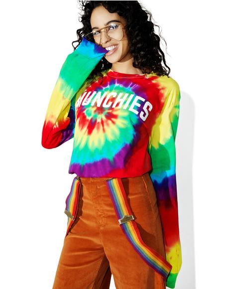 Munchies Tie Dye Crew Neck Tee