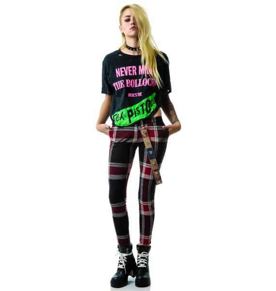 Christian Benner Sex Pistols Vintage Destroyed Crop Tee