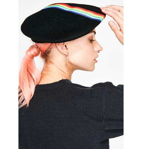 Don't Worry Be Happy Rainbow Beret