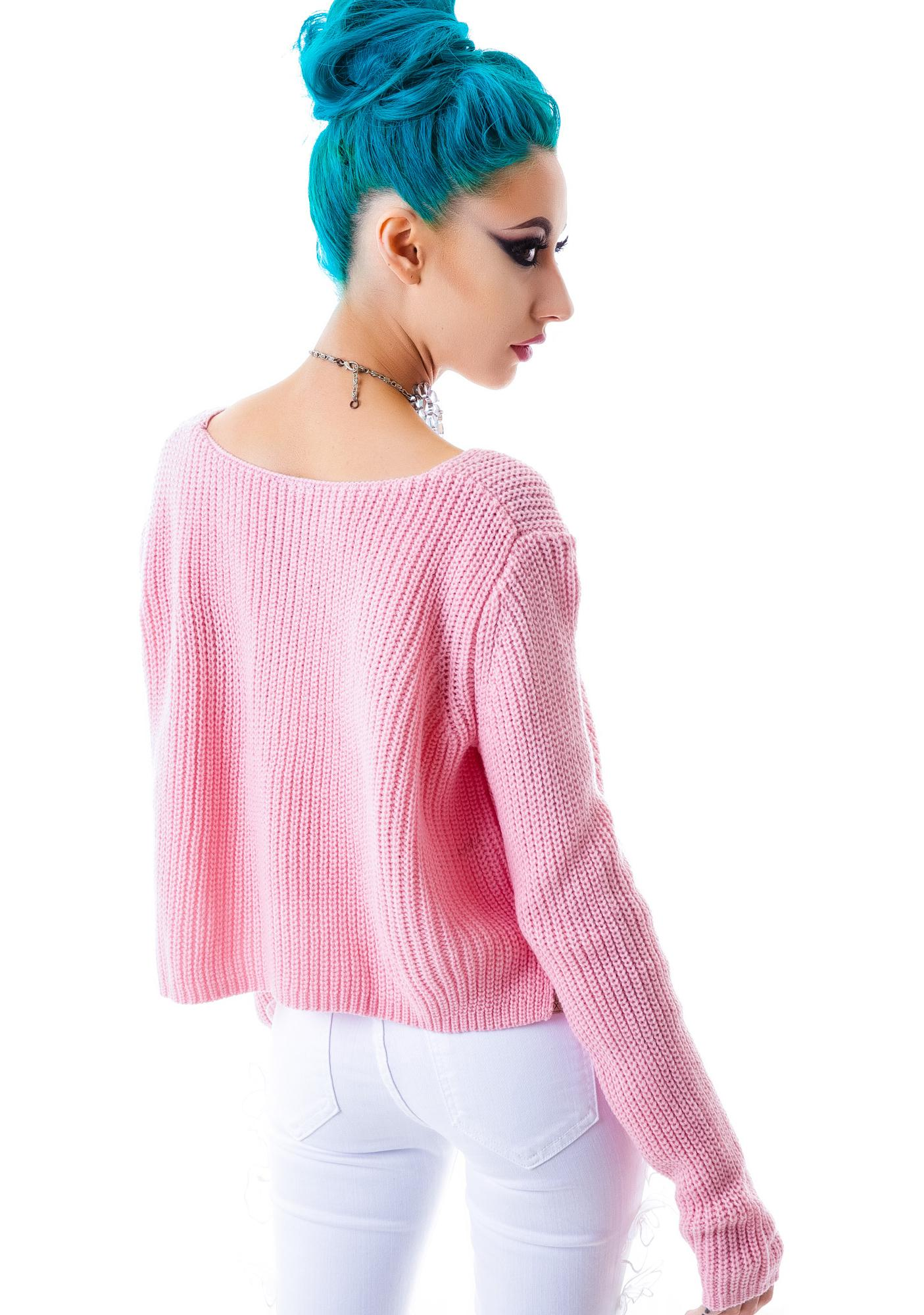Dolly Oversized Knit Crop Top