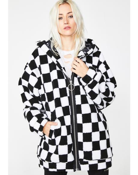 Check On It Faux Shearling Jacket