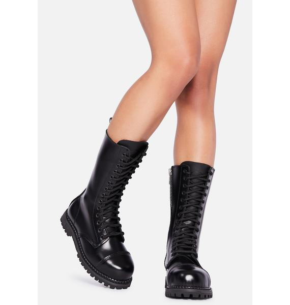 Demonia Rule Breaker Combat Boots