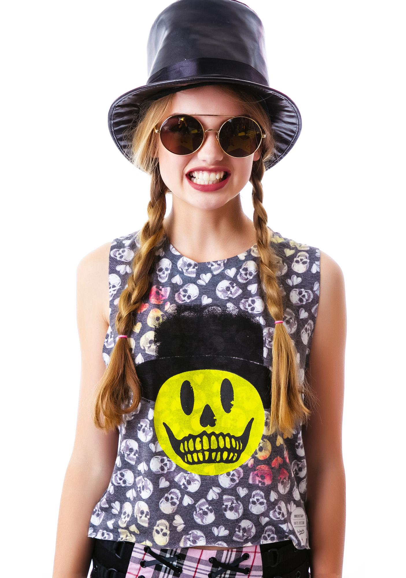 Smiley Skelly Nightmare Tee