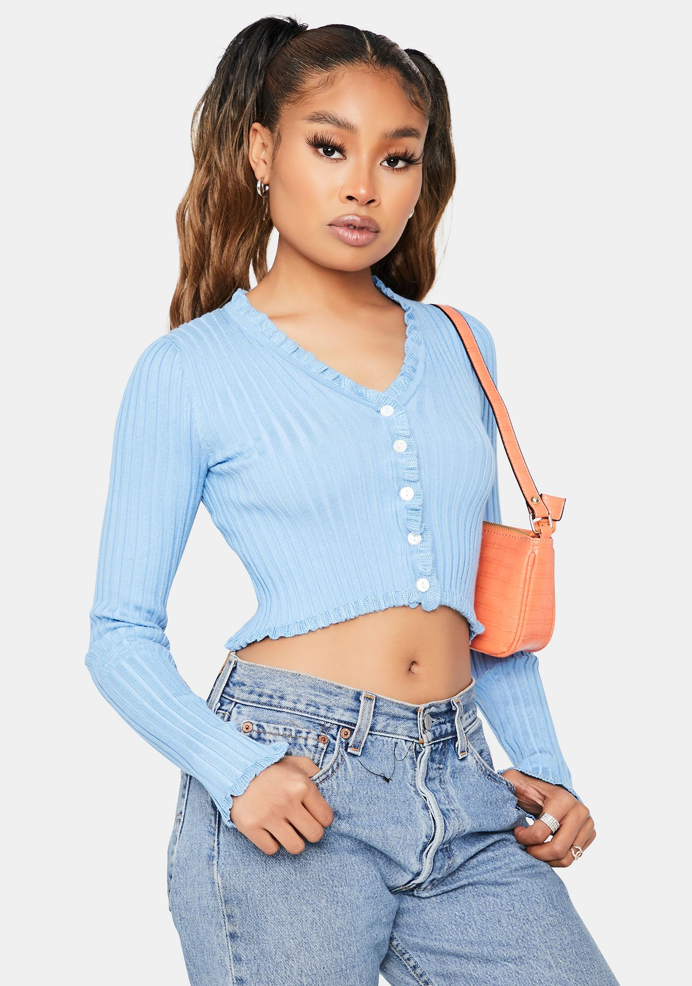 Clique on Speed Dial Cropped Sweater