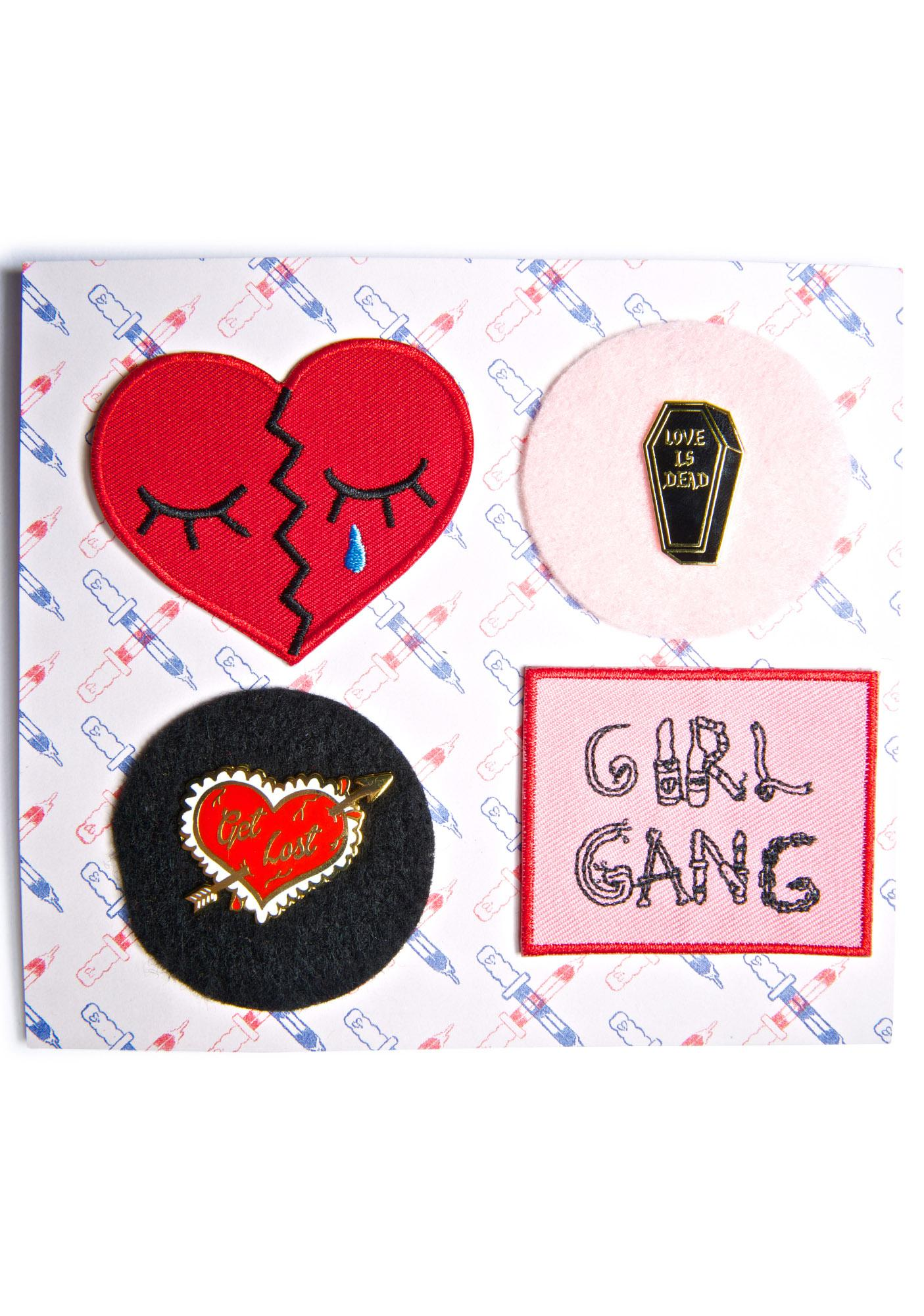 Penelope Meatloaf Luv Suxxx Pin & Patch Set