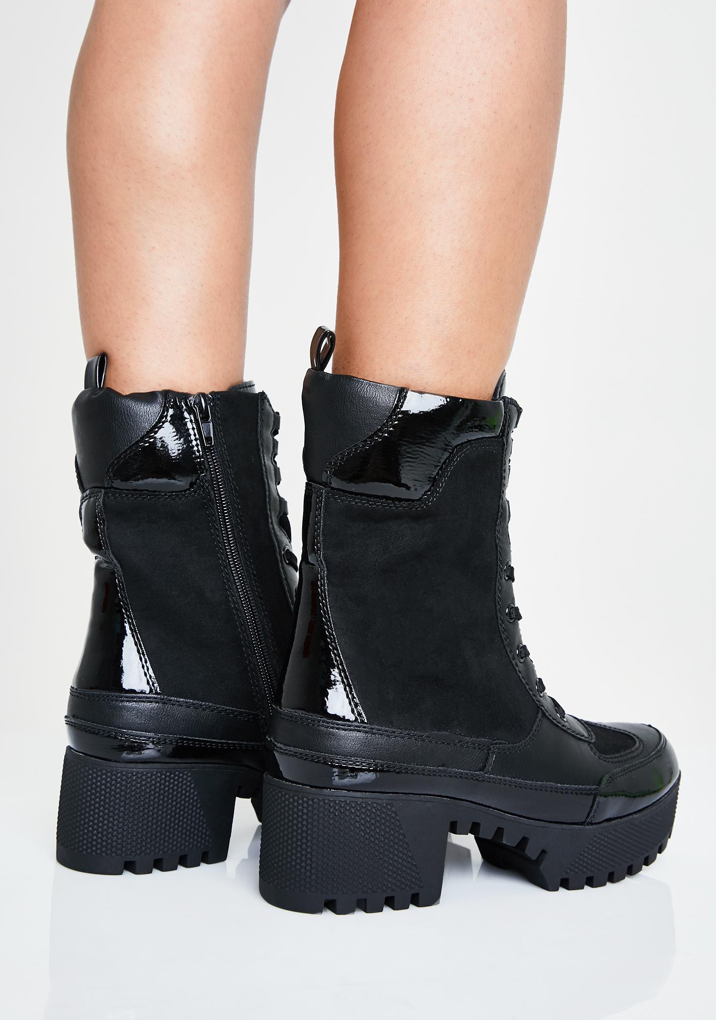 Midnight Farrago Combat Boots