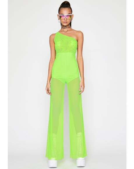 Nuclear Goddess Intent Mesh Jumpsuit