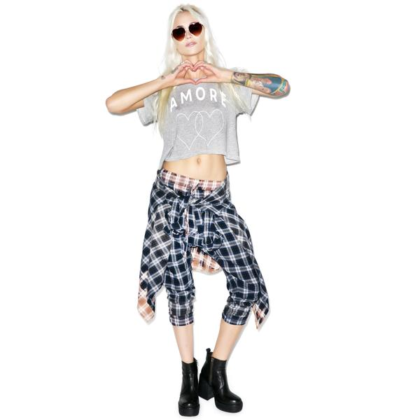 Wildfox Couture Amore Hearts Middie Tee