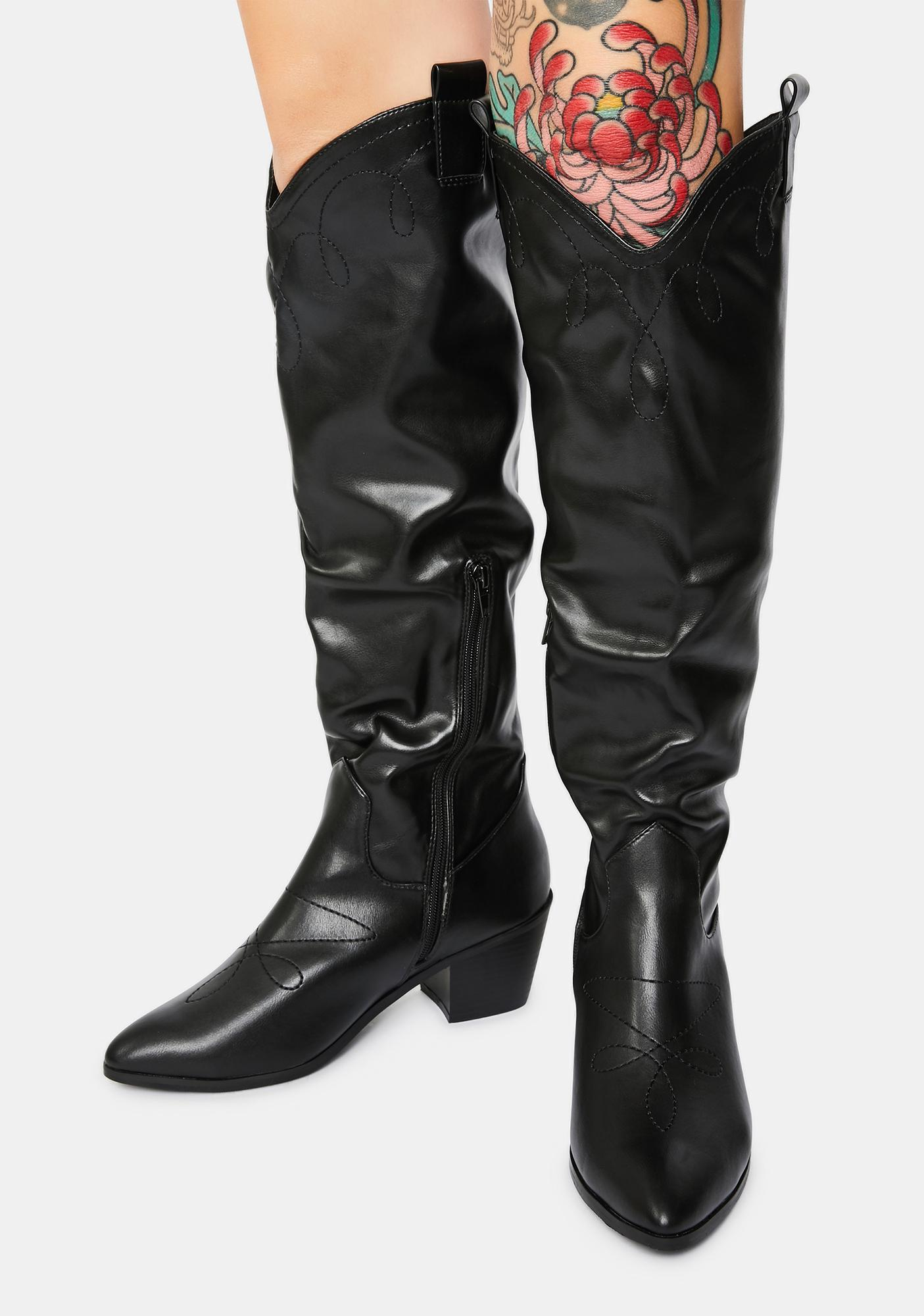 4TH & RECKLESS Jayne Knee High Cowboy Boots