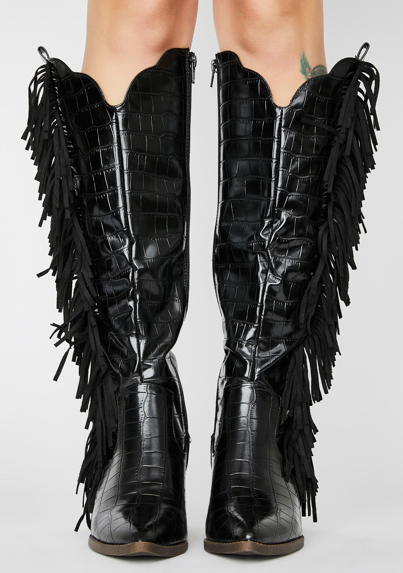 Noir Stagecoach Stunner Cowboy Boots