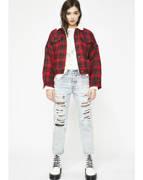 Rebel Mentality Plaid Jacket
