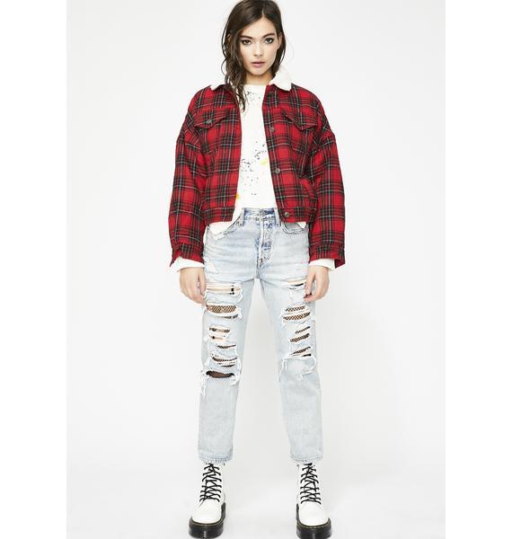 Rebel Mentality Plaid Jacket