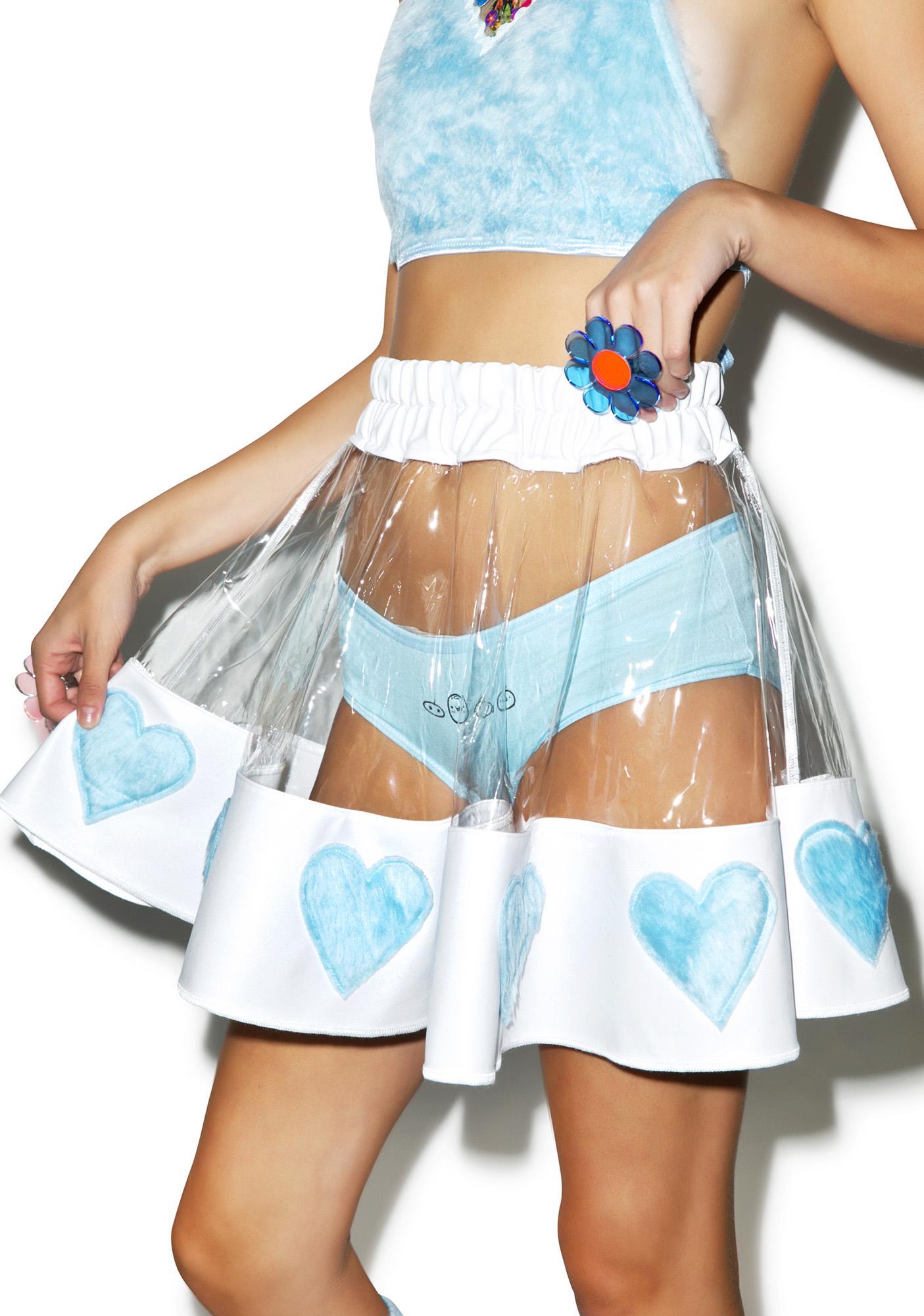 Indyanna Courtney Skies PVC Heart Skirt