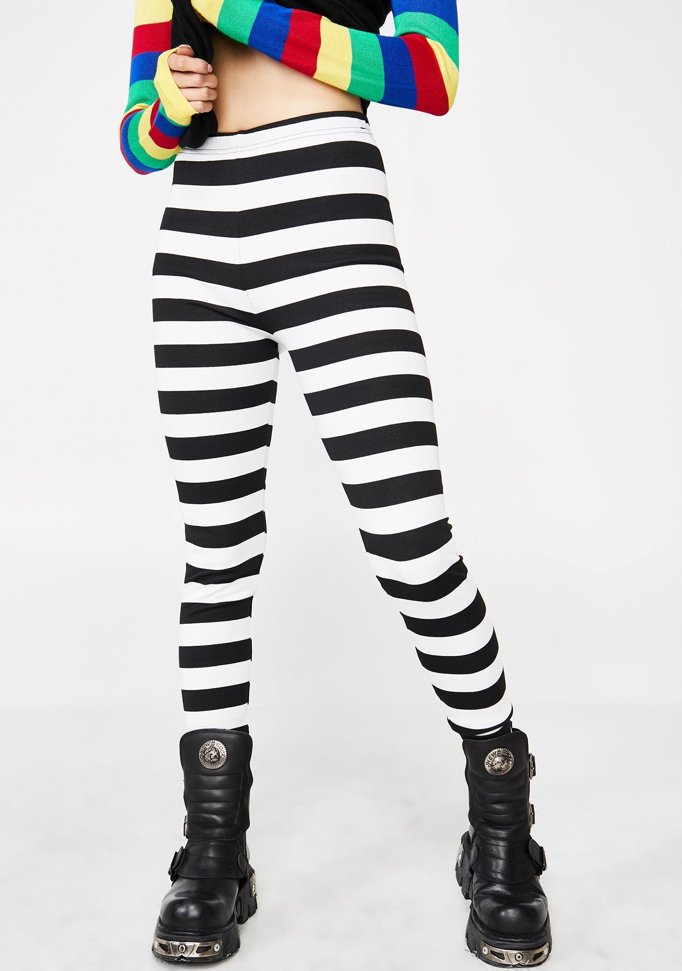 Jawbreaker Recently Deceased Stripe Leggings