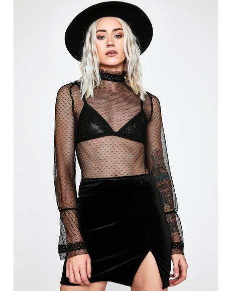 Unholy Total Temptation Velvet Skirt