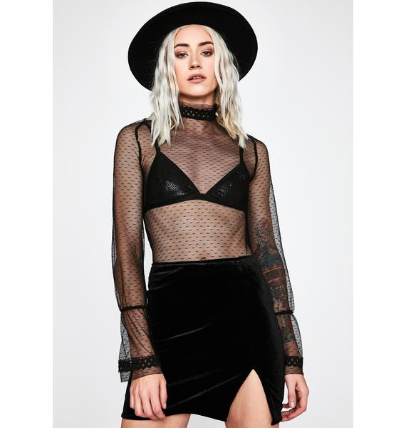 Unholy Total Temptation Velvet Skirt