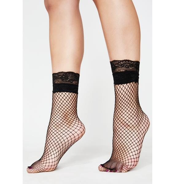 Sasscapade Fishnet Socks