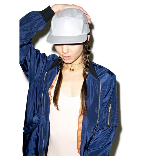 Wolf Grey Leather Hat