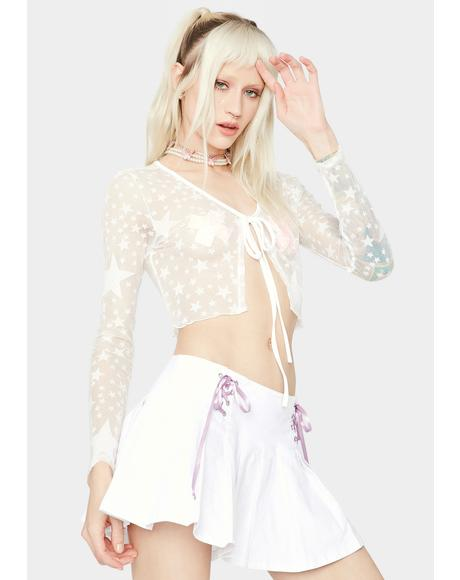 Starlight Heaven Sheer Crop Top