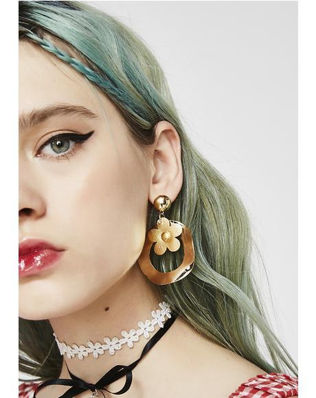 Keep Blooming Hoop Earrings