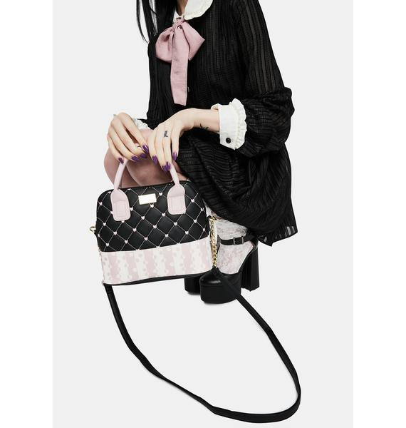 Betsey Johnson Quilted Wallet On A String With Earbud Case