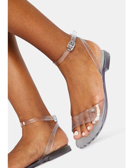 Translucent Pullman Jelly Sandals